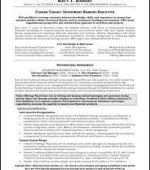 Sample Resume Investment Banking Download Banking Executive Sample Resume Haadyaooverbayresort Com