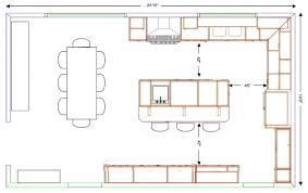 kitchen impressive kitchen plans with island fresh layout best