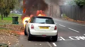 peugeot fire west clandon car fire shocking footage captures moment mini