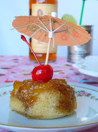 boozy pineapple upside down cupcakes