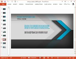 projeto animated template profundidade powerpoint