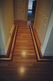 Hardwood Floor Borders Ideas Hallway Floor Where All The Wood Goes One Direction Decor Ideas