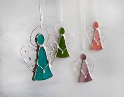 stained glass angel ornaments little cute angels christmas