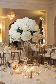 White Roses Centerpieces by Tall Hydrangea Centerpieces For Weddings Tall Centerpiece With
