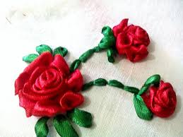 silk ribbon roses embroidery ribbon ribbon flowers ribbon work