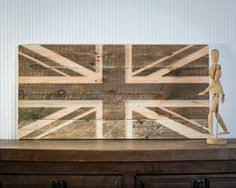 100 reclaimed timber and pallet wood union jack by beauconcept