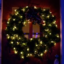 imposing decoration wreaths with lights white