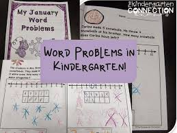 word problem journals and a freebie the kindergarten connection