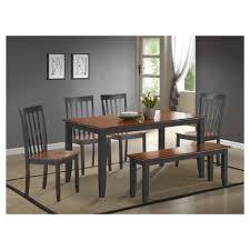 boraam bloomington dining table set bloomington 6 piece dining set black and cherry boraam target
