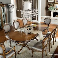 classic dining room with hardwood walnut extendable table dining