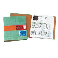 ticket stub diary concert and travel memory book album