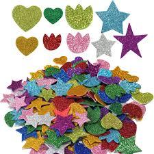 200pcs glitter foam stickers self adhesive flower and mini