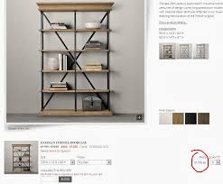 inspirations restoration hardware bookcase used furniture for