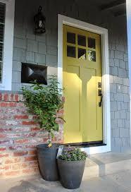 image result for grey house yellow door front door pinterest