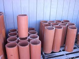 the clay chimney flue