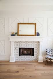 custom millwork fireplace mantel and surround with inlaid cement
