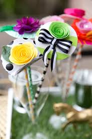 Kentucky Derby Flowers - diy whimsical derby hat drink stirrers pizzazzerie