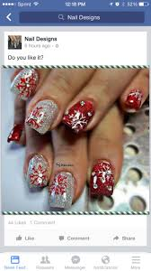 124 best holiday christmas nails images on pinterest christmas