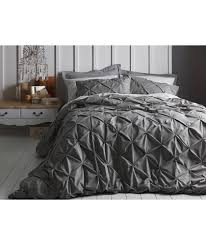buy heart of house caesar grey pintuck bedding set double at