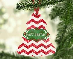 chevron print merry ornament hanging