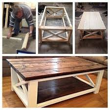 farmhouse coffee and end tables diy cocktail table best 25 diy coffee table ideas on pinterest