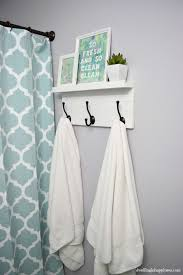 Bathroom Towel Hooks Ideas Diy Towel Rack With A Shelf Bathroom Hooks Hook Rack And