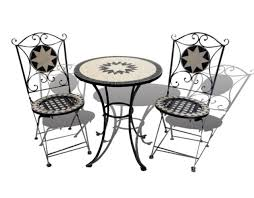 Mosaic Bistro Table Set Bistro Table Chairs Outdoor Garden Patio Set Round Folding Wrought