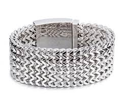 titanium steel bracelet images Heavy 12mm 18mm 30mm super wide men biker mesh silver chain 316l jpg