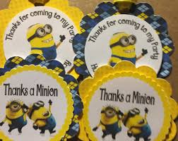 Minions Candy Buffet by Blue Baptism Blank Food Tent Cards Labels Buffet Tags Name Place