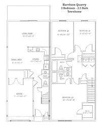 Townhome Floor Plan by Harrison Quarry Townhomes Schermerhorn
