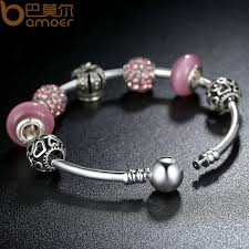 pandora bracelet murano glass images Bamoer 925 silver charm bracelet bangle with open your heart jpg
