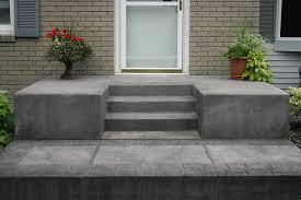 steps concrete or decorative goodmanson construction