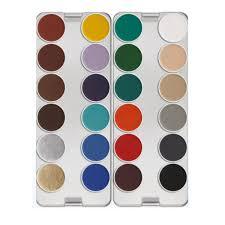 kryolan aquacolor palette 24 color k stage makeup online