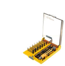 45 in 1 multi bit screwdrivers set yellow black free