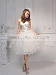 robe mariã e courte de mariée courte civil dentelle appliques décolleté en coeur