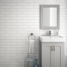 Grey Metro Bathroom Tiles Westbury Rustic Metro Wall Tiles White 30 X 10cm Pack Of 34