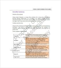 gym business plan template 13 free sample example format