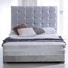 Divan Bed Set New In Cbs Memory Sprung Crushed Velvet Bed Set Affordable