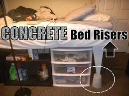 Concrete Block Bed Frame Bedroom Diy Cinder Block Bed Frame Cork Throws Floor Ls The