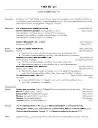 Penn State Resume Resume Portfolio U2013 Katie Gergel