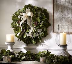 live fresh winter collection wreath pottery barn