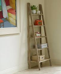 Corner Ladder Bookcase Folding Ladder Shelf Ladder Bookcase Wooden Ladder Shelf Unit Oak