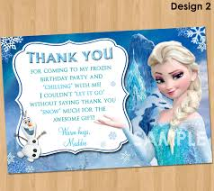 frozen thank you card disney frozen thank you note frozen