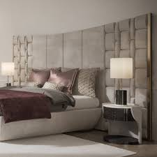 Italian Bedroom Furniture London Contemporary Italian Bed With Large Luxury Leather Headboard