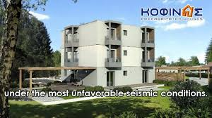 kofinas prefabricated houses greece 3 story building test youtube