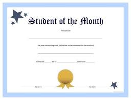 Free Printable Student Of The Month Certificate Templates free printable student of the month certificate stuff