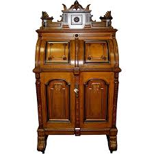 Secretary Style Desk by 7706 Rare Antique Oak Extra Grade Wooton Patent Secretary
