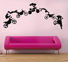 amazon com motocross wall decals motocross graphic extreme sport amazon com motocross wall decals motocross graphic extreme sport silhouette removable wall art diy vinyl wall sticker baby