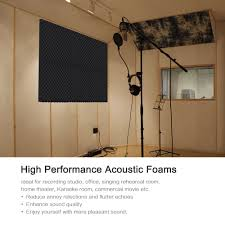 6 pack studio acoustic foams sponge panels tiles absorption sales