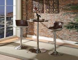 Round Pub Table Set Brancaster 3pcs Round Bar Table Set